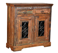 Reclaimed Wood and Iron Cabinet//Buffet de Bois Recyclé et de Fer
