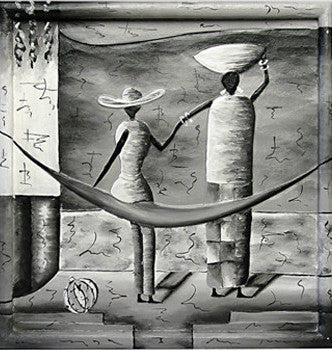Balinese Tribal Paintings (black & white)//Tableaux tribaux de Bali (noir & blanc)