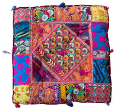 Spice of India: Square Floor Cushions//Épice de l'Inde Coussins de Plancher