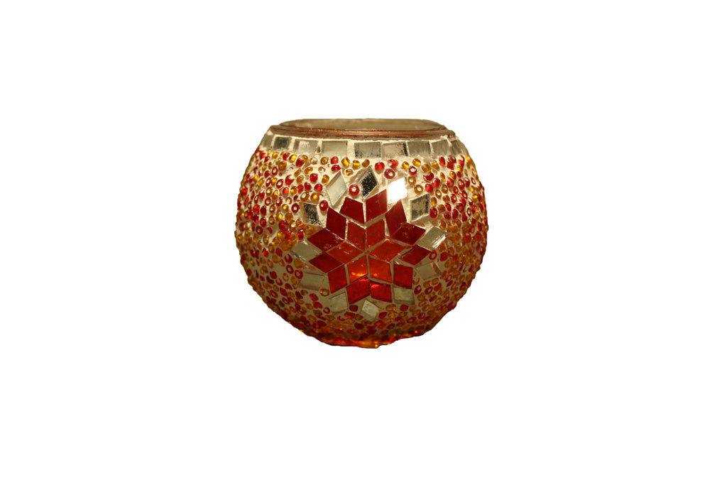 Mosaic Candle Holder//Porte Bougie Mosaïque