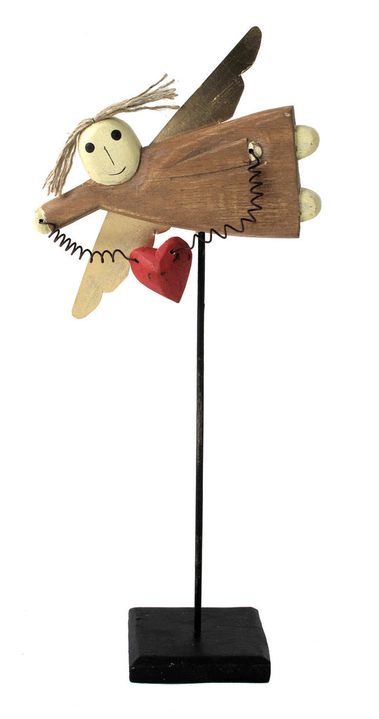 Wooden Angel On Stick//Ange en Bois Sur Bâton