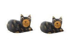 Wooden Cat Magnet//Aimant de Chat en Bois