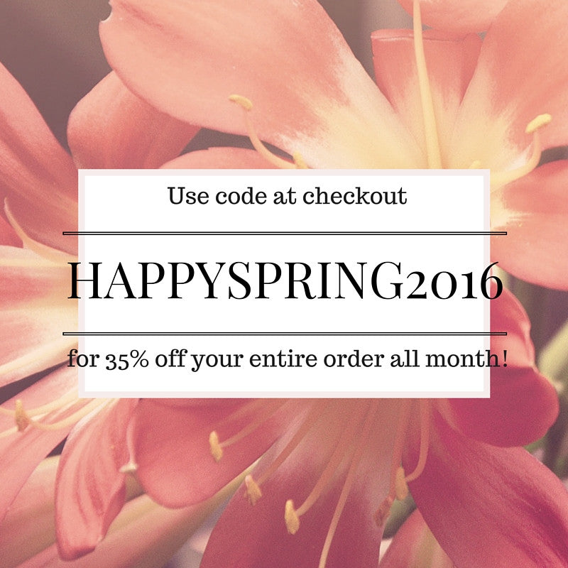 Happy Spring Sale!