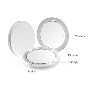 OOAKForHome TB LED Compact Mirror - One of a Kind for Home