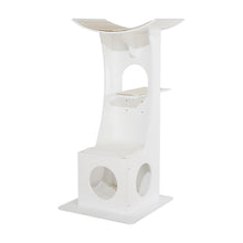 OOAKForHome Wood Cat White Tower Tree - One of a Kind for Home