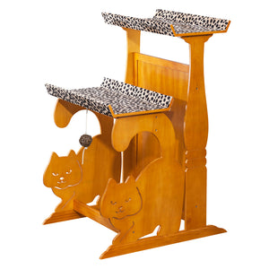 OOAKForHome Wood Cat Leopard Nature Double Rest - One of a Kind for Home