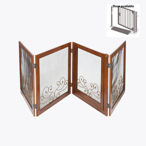 "OOAKForHome Nutty floral on mesh gate, room divider (solid birch wood), 24"" - One of a Kind for Home"