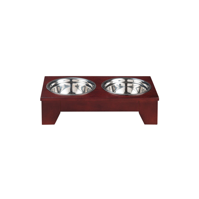 OOAKForHome Tessy Elevated Pet Feeder /w Stainless Steel Bowls (S) - One of a Kind for Home