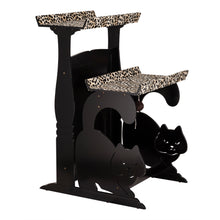 OOAKForHome Wood Cat Leopard Double Rest - One of a Kind for Home