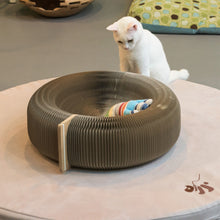 OOAKForHome Cardboard Cat Scratching Donut Bed: 100% Recyclable materials - One of a Kind for Home