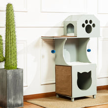 OOAKForHome Wood Sky Castle Cat Tower - One of a Kind for Home