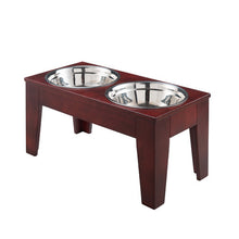OOAKForHome Tessy Elevated Pet Feeder /w Stainless Steel Bowls (L) - One of a Kind for Home