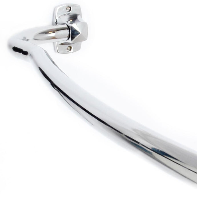 Chrome Adjustable Curved Shower Rod - One of a Kind for Home