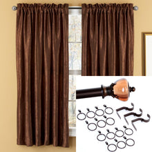 "<b>OOAK</b> Window Rod and Panel - Dark Chocolate 64"" - One of a Kind for Home"