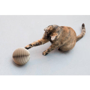 OOAKForHome Kirin Cardboard Cat  Scratch Ball (cat toy): 100% recyclable materials - One of a Kind for Home