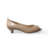 Karla Peep Toe Kitten Heel Court Shoe