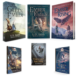 Combo-GreenEmber, EmberFalls, EmberRising in HARDCOVER+Black Star, Last Archer, Wreck and Rise in SC