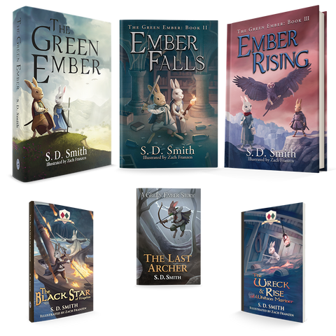 Combo - GreenEmber, EmberFalls, EmberRising in Hard Cover+Black Star, Last Archer, Wreck and Rise in Soft Cover