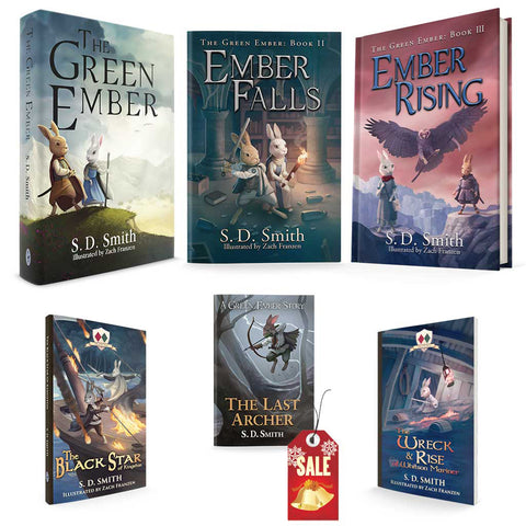 Combo - GreenEmber, EmberFalls, EmberRising in Hardcover + BlackStar, LastArcher, Wreck&Rise in Softcover - *Does not include The First Fowler