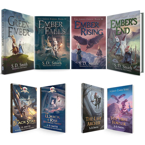 Combo - GreenEmber, EmberFalls, EmberRising, Ember'sEnd in Hardcover + BlackStar, LastArcher, Wreck&Rise, FirstFowler in Softcover