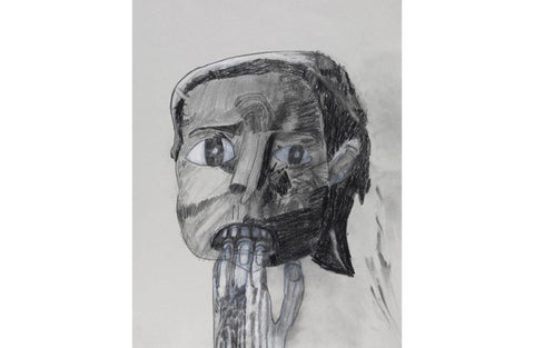 Lady with hand over her mouth, 2011 FRAMED Work