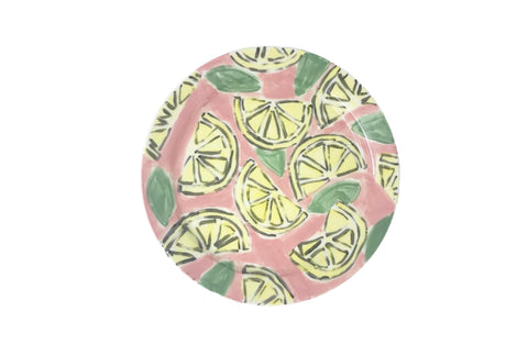 Lemon Hand Painted Glazed Plate