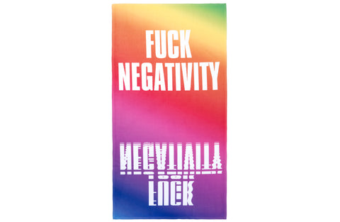 Fuck Negativity Beach Towel
