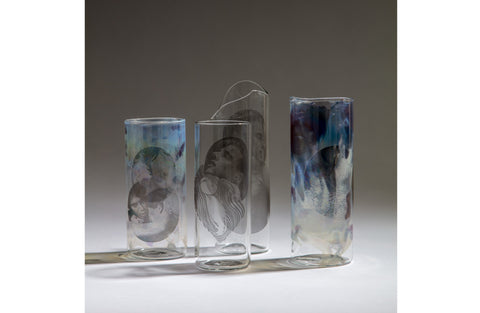 Jochen Holz for Linder Hand Blown and Hand Finished Glassware