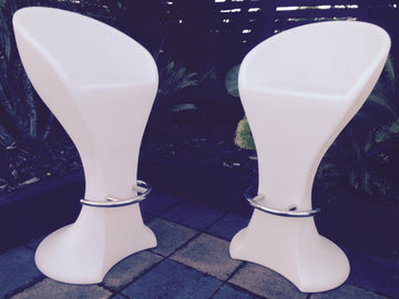 LED Bar Stool with Back - HIRE