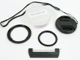 Canon G7X Mark III & G7X Mark II (also fits G5X Mark II & G5X) Quick-Change Filter Adapter Kit 52mm by Lensmate