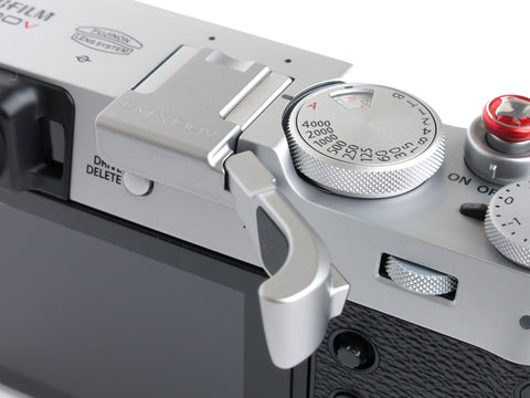 Fujifilm X100V Folding Thumbrest Silver by Lensmate - Sold Out - Next shipment April 15th