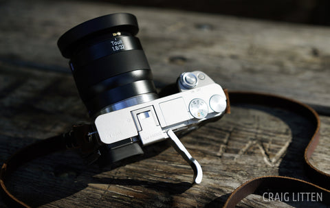 Sony Alpha a6000 Folding Thumbrest by Lensmate Silver