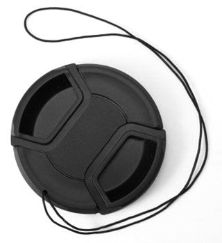 Plastic Center-Pinch Lens Cap w/ tether 58mm