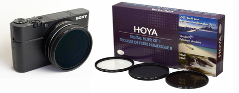 Sony RX100 VA (also fits V, IV, III, II &1) Quick Change Filter Adapter Kit 52mm by Lensmate + Hoya 3 piece Digital Filter Kit With Case