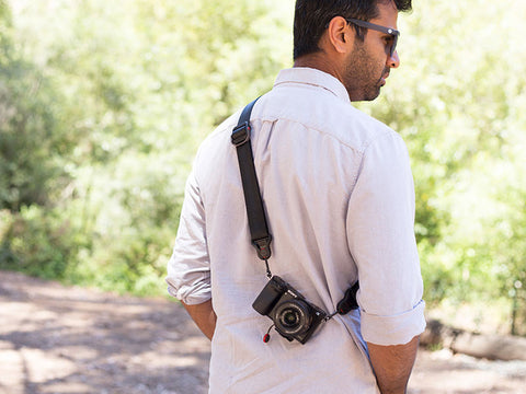 Peak Design Slidelite Camera Strap - with added *Split rings