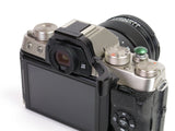 Fujifilm X-T100 ( also fits X-T200) Thumbrest by Lensmate + Lolumina Mini Soft Release Button - 10mm