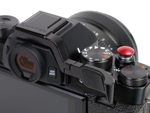 Fujifilm X-T100 Thumbrest by Lensmate + Lolumina Mini Soft Release Button - 10mm