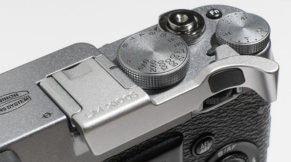 Fujifilm X100S (also fits X100) Thumbrest by Lensmate - Silver