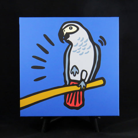 African Grey Parrot Fine Art Canvas - 2 sizes available
