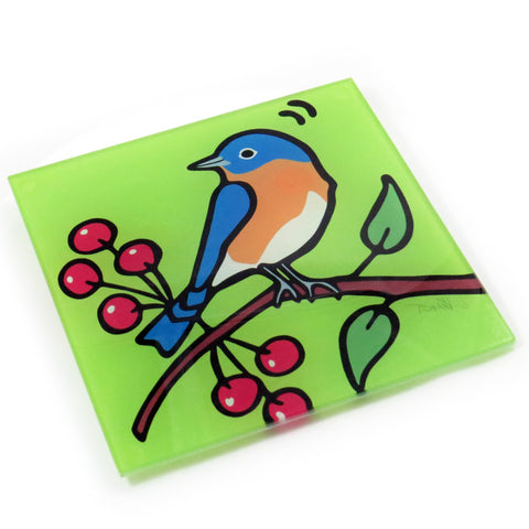 Bluebird Tempered Glass Trivet