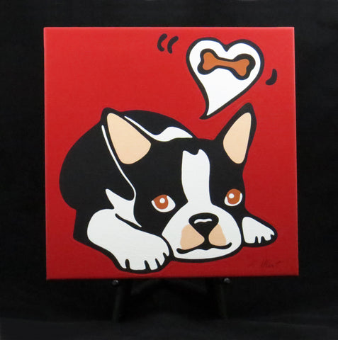Boston Terrier Puppy/Dog Fine Art Canvas - 2 sizes available