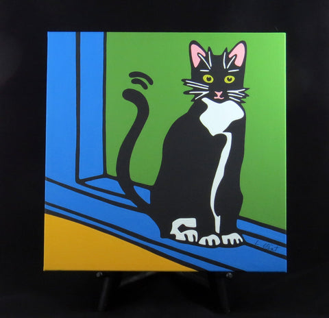 Tuxdeo Cat/Black & White Cat/Kitten Fine Art Canvas - 2 sizes available