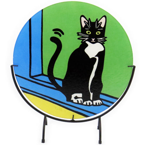 Tuxedo Cat/Black and White Cat Cutting Board - 2 sizes available