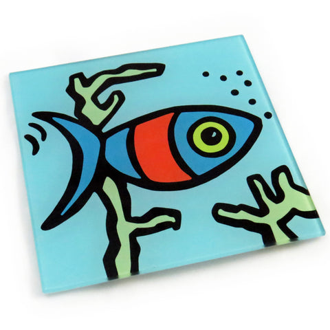 Fish Tempered Glass  Trivet
