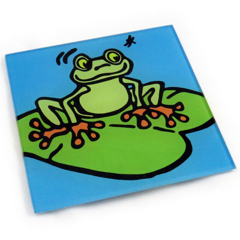 Frog Tempered Glass Trivet