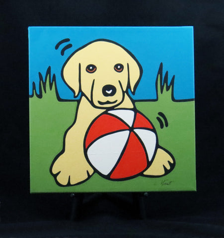 Yellow Lab Puppy/Dog Fine Art Canvas - 2 sizes available