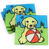 Yellow Labrador Retriever (Yellow Lab)  Puppy/Dog Tempered Glass Coasters - Set of 4 (Available with or without coaster rack)
