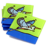 Great Blue Heron Tempered Glass Coasters - set of 4 (Available with or without coaster rack)