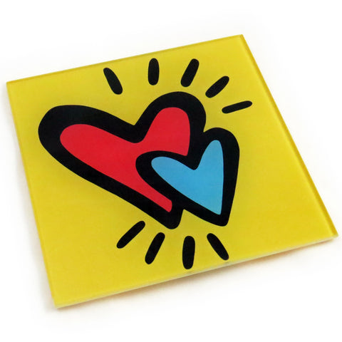 Hearts Tempered Glass Trivet