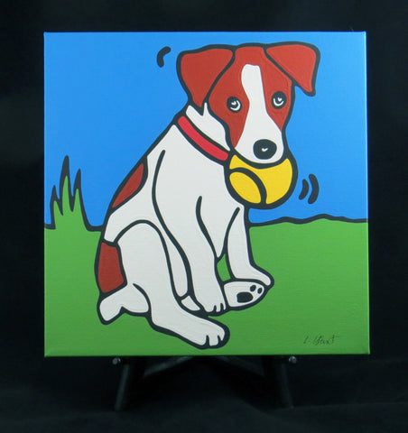 Jack Russell Terrier Puppy/Dog Fine Art Canvas - 2 sizes available